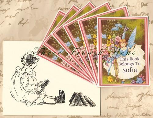 Personalized Custom Set of 24 Book Plates For Your Fairy Garden Books
