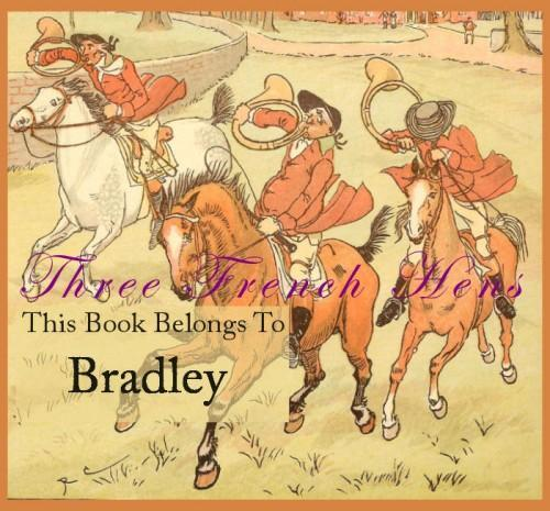 Personalized Custom Set of 24 Fox Hunt Book Plates For Your Library