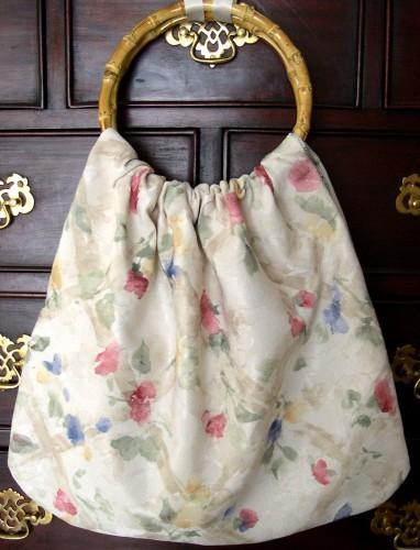 Monet's Flower Garden Hand Crafted Ring Handled Purse Project Tote