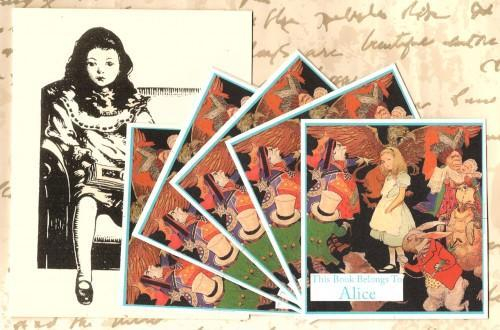 Personalized Custom Set of 24 Book Plates For Your Wonderland Library