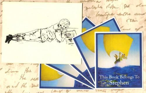 Personalized Set of 24 Book Plates For Your Little Pirates Library