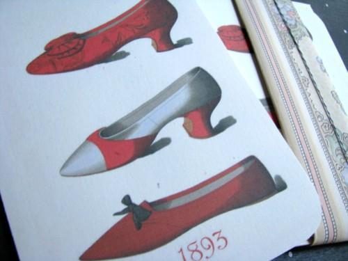 Paris Shoe Fashions Stationery Note Flat Set