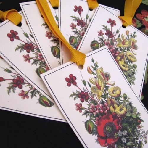 Journal Embellishment Gift Tag Victorian May Botanical Set