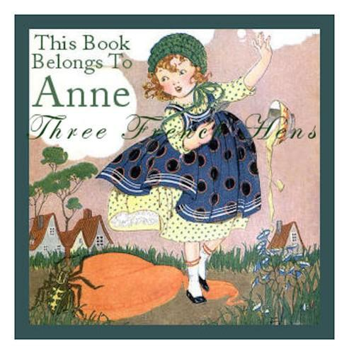Miss Muffet Personalized Book Plate Set of 24