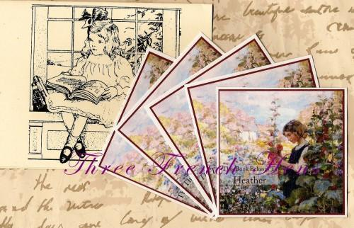 Personalized Set of 24 Book Plates For Your Book Garden