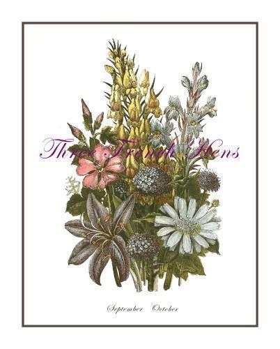 Journal Embellishment Gift Tag Victorian Autumn Botanical Set