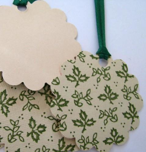 Spring Ivy Gift Tags Journal Embellishment Ornaments Set