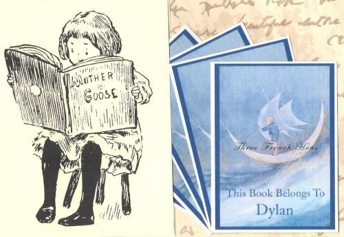 Personalized Set of 24 Custom Bookplates For Your Reading Star Ship