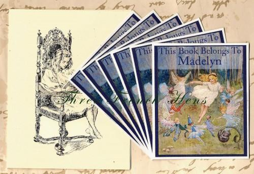 Garden Fairies Personalized Book Plates Set of 24