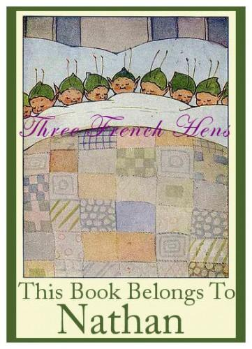 Little Elves Personalized Book Plates Set