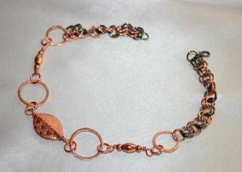 Copper Wire Wrapped Boot Bling, Chainmaille Beaded Boot Bling Statement