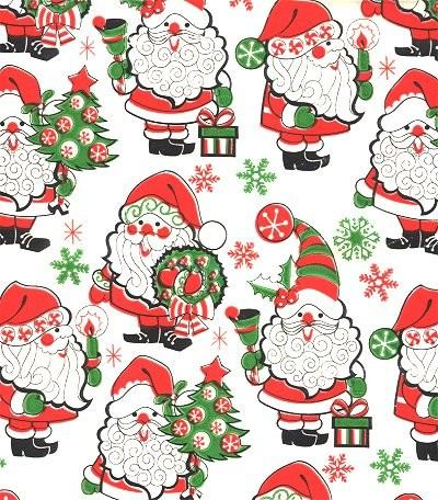 Christmas wrapping paper santa sandycreekcollectables for Paper christmas gifts