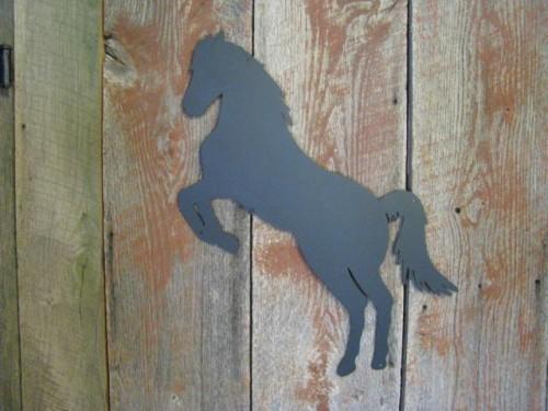 Horse 6 Medium Metal Western Cowboy Wall Yard Art Animal Silhouette