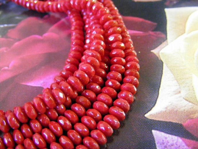 czech glass beads faceted donut beads opaque wine
