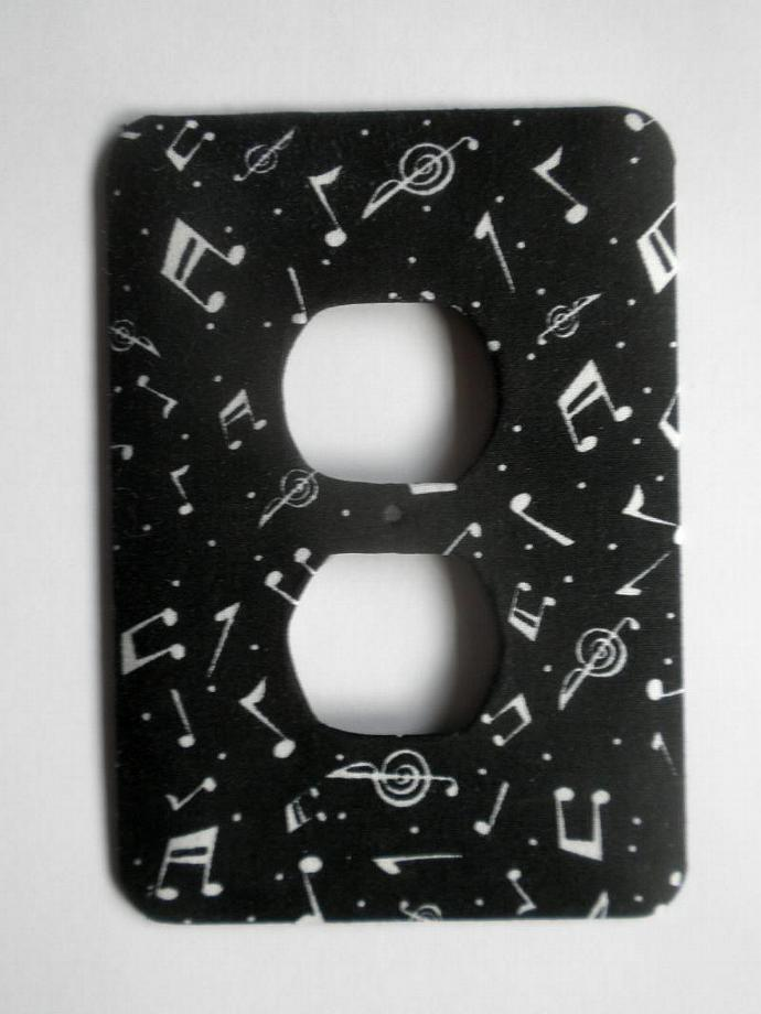 Black and White Music Theme Outlet Cover