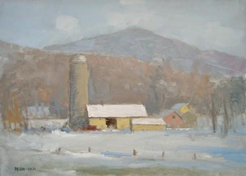 Vermont Landscape - Winter Farm by Richard Derwitsch