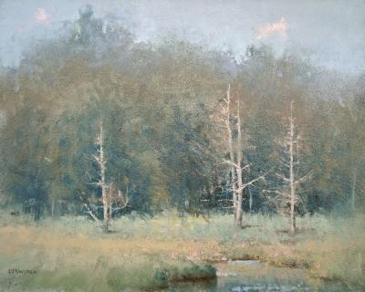 Art Reproduction - Impressionist Landscape - Fading Pines
