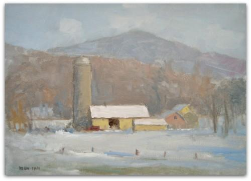 Giclee ACEO - Winter Farm