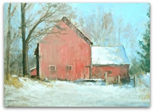 ATC Print of Original Painting - Parker Hill Farm