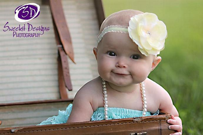 Katherine Leigh Lemon Meringue Flower Headband Set