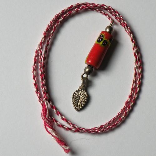 Upcycled Vintage Venetian Bead Spirit Cord Page Saver