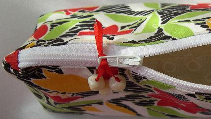 Zipper Pouch Lined Cosmetic Bag in Bright Colorful Aloha Floral