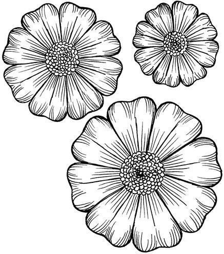 Flora Grande 2 Pre-Cut Stamp