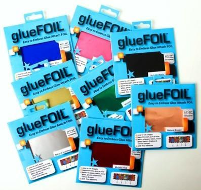 glueFOIL Metallic Blue 4x4