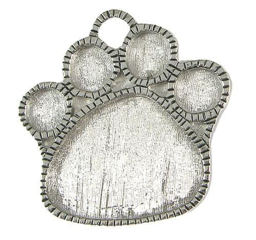 Pendant Pewter 2.13x2.13in Paw Print