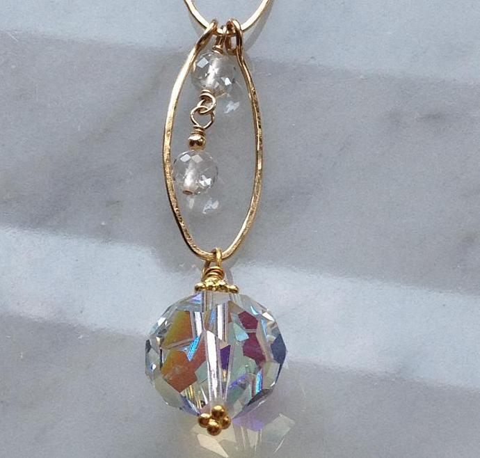 Aurora Borealis Crystal Pendant Summer Sale