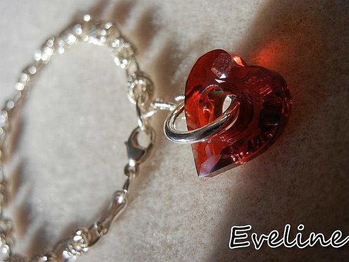 Sterling silver and  Swarovsky crystal    bracelet
