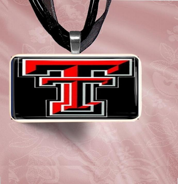 Texas Tech Domino Pendant Necklace