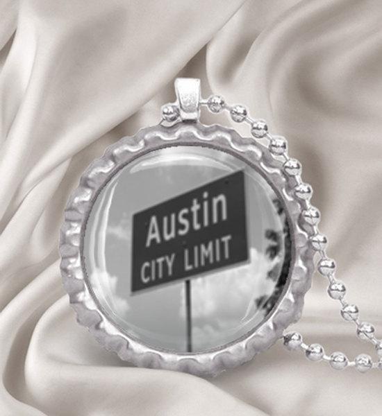 Austin City Limits Bottle Cap Necklace