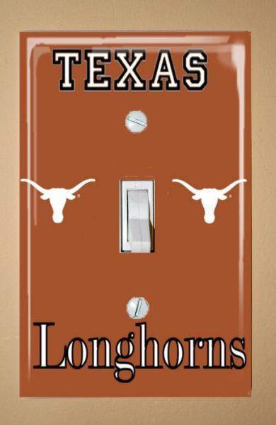 University of Texas UT Longhorns Light Switch Plate Cover /  (I have 2 ready to