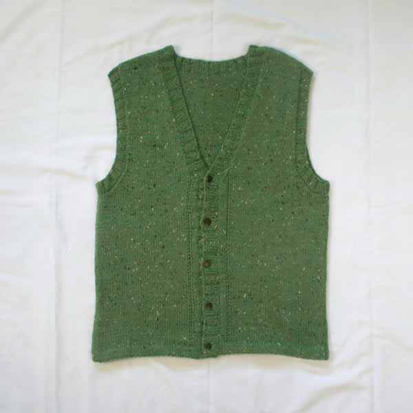 Men's Sweater Vest - Size Small - Blue-Green