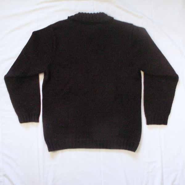 Men's Polo Neck Wool Sweater - Size Medium