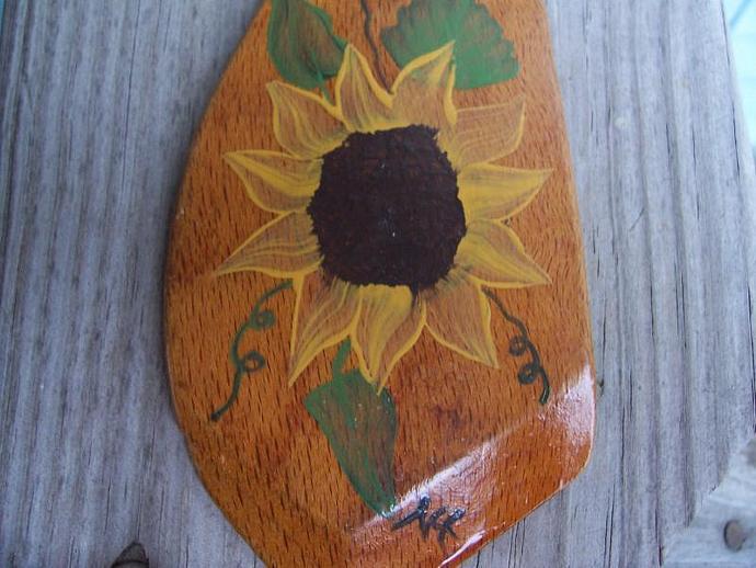 Sunflower on a Vintage Spatula