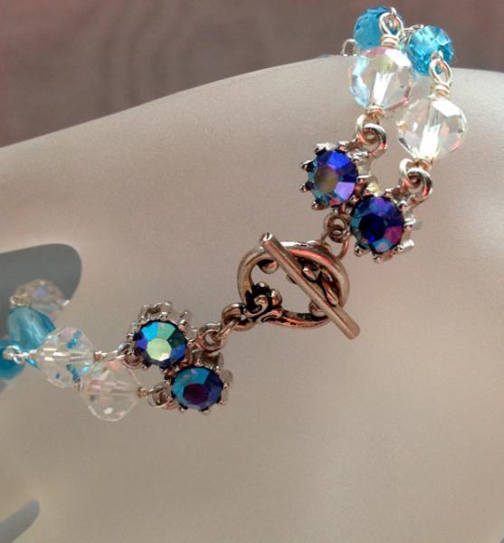 Vintage Swarovski Crystal and Turquoise Glass Bracelet