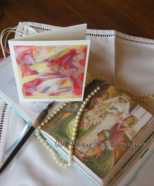 Cards --  WEDDING Greeting Card on Strathmore Watercolor Paper with Deckled Edge