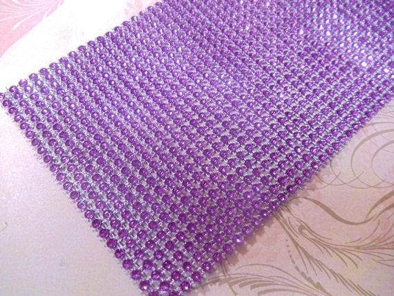 1yd - Purple Mesh Bling (24 Row)