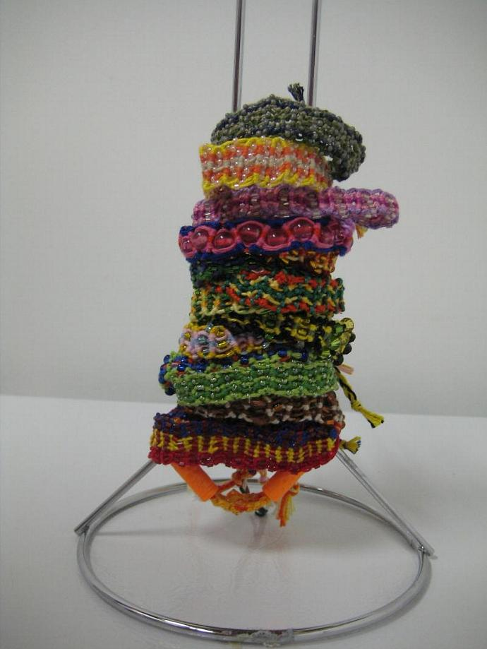 Grab Bag of Beaded Wavy Micro Macrame Friendship Bracelet Set of 10