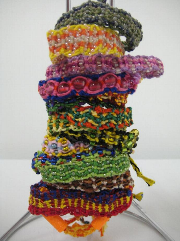 Grab Bag of Beaded Wavy Micro Macrame Friendship Bracelet Set of 15