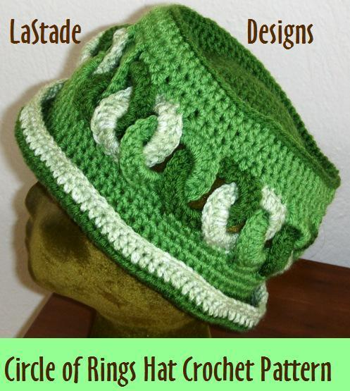 PDF Crochet Pattern Rings Hat Cloche Beanie