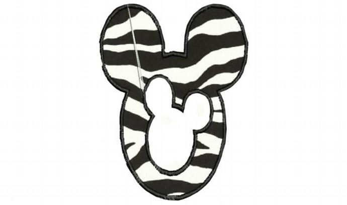 Mouse Head Machine Embroidery design Applique