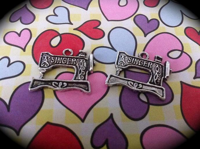 Singer Sewing Machine Charms-Set of 2