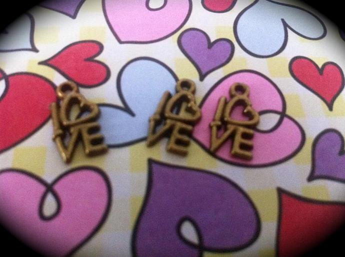 Copper Love Charms- Set of 3
