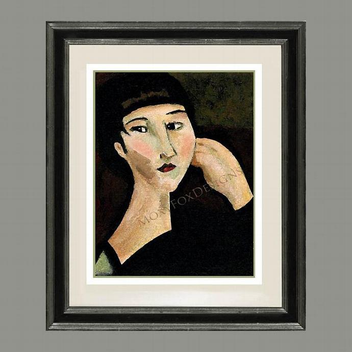 Art -- ASIAN REMEMBERING Fine Art Print Impressionistic Thoughtful Contemplative
