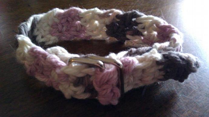 Crocheted Small Animal Collars (Cats or small Dogs)