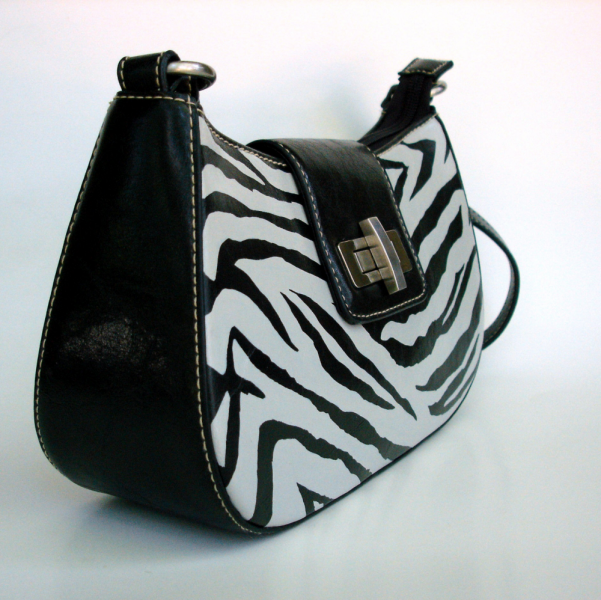 SALE!!!  Zebra Hand Painted Short Shoulder Purse