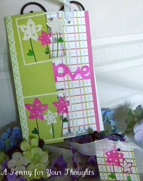 Love Mother Handmade Card with Removable Bookmark and Tag